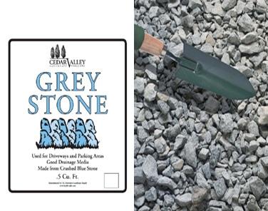 bagged grey stone