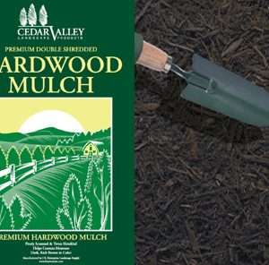 Premium Hardwood Mulch bagged