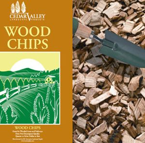 bagged woodchips