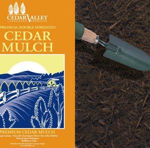 cedar mulch bagged