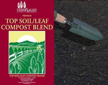 top soil leaf compost blend