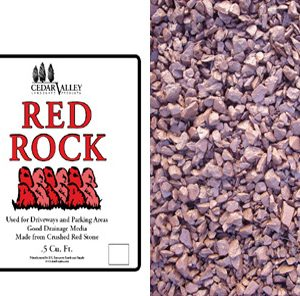 bagged red rock