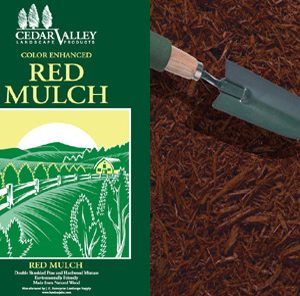 bagged red mulch