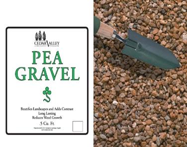 Pea Gravel cubic feet