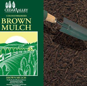 bagged brown mulch