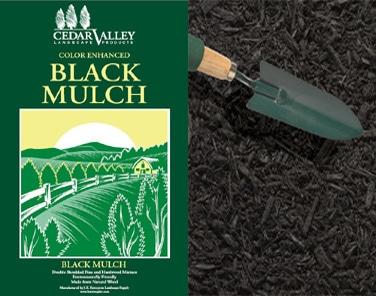 bagged black mulch