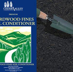 Hardwood fines soil conditioner