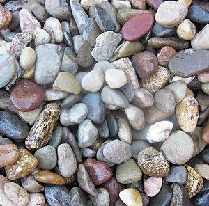 multi-size river jack stone