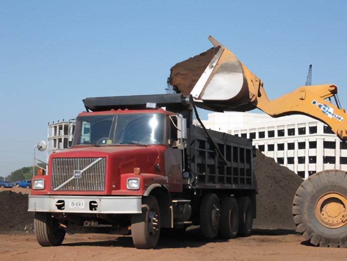 dump truck soil